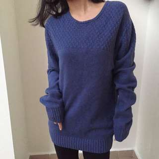 (New) Oversized Blue Pullover Knit