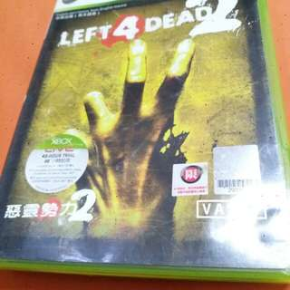X BOX  360  LEFT 4 DEAD ~惡靈勢力~2 GAME MADE IN  SINGAPORE