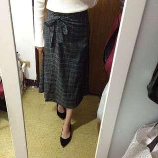 全新 轉賣 正韓 一片式 格紋裙 綁帶 韓製 Korea 韓 kashin dobe miluku Lynn shin #我的女裝可超取