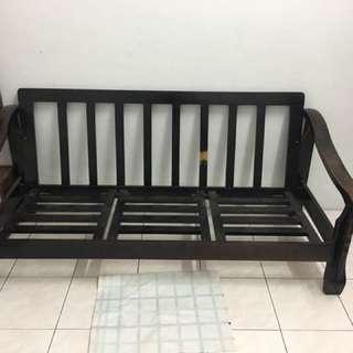 Wooden chair sofa (no cushion)