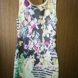 Pastel colored bodycon dress