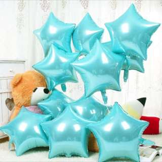 Baby Blue Star Foil Balloons