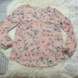 Valleygirl Pink Floral Blouse Work Top 8