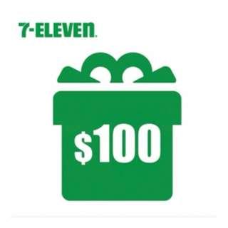 7-11 7-eleven 超商電子 禮券 電子 折價券 購物金 面額100元 9折