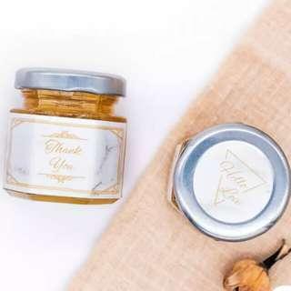SALE 60ml HALAL Honey Jar Personalised Sticker