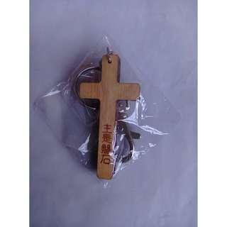 十字架木質吊飾