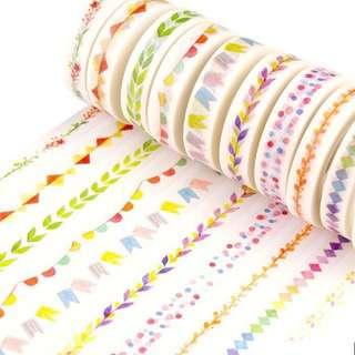 Colourful Design Washi Tape