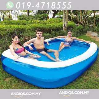In-Stock✔BESTWAY INFLATABLE PADDLING POOL Family Kolam Mandi Renang Kanak Main (Medium)
