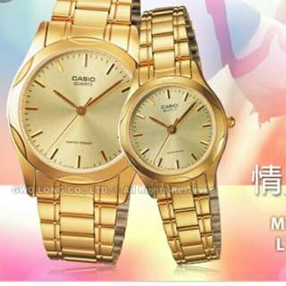 💏👫💑6折全新行貨卡西歐防水情侣行針鋼錶-40% New Brand New Original Casio Water resistance Sweetheart Analog Metal Watch