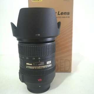 nikon 18-200mm VR zoom lens