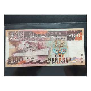 Rare Collection SINGAPORE Old Bank Notes $100 - 021217