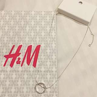 Brand New Auth H&M Embellished Circular Necklace