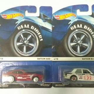 Lot Hot wheels Real Riders Datsun