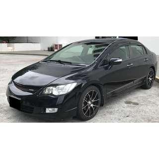 Honda Civic 1.8A for Long Term Car Rental