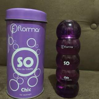 Flormar So Chic Eau De Toilette Perfume FREE PURPLE PURSE