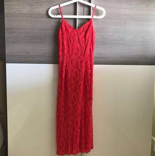 BN Australian Imported red lace dress