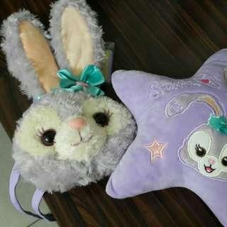 迪士尼 史黛拉兔零錢包,星星枕