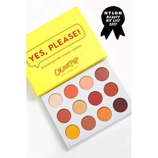 [Ordered] Brand New Colourpop 'Yes Please' Shadow Palette