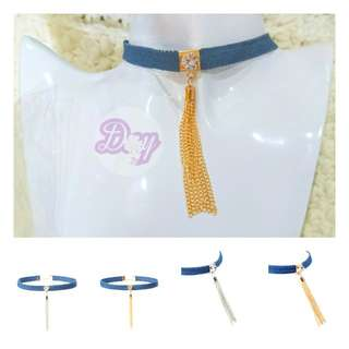 "[MerryCharms.com/Day 21] DY2109 ""Bluez"" Choker"