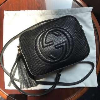 GUCCI SOHO DISCO PHYTON BAG