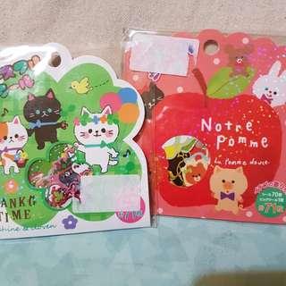 包郵動物貼纸2包