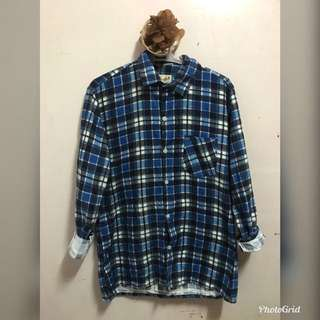 ❗️Repriced❗️Unbranded Blue checkered polo