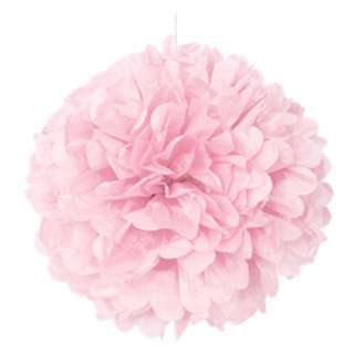 5 Paper Poms - Light Pink : 24.5cm, 20cm