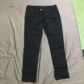 Satin black pants
