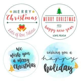 Christmas Stickers Personalised/Customised