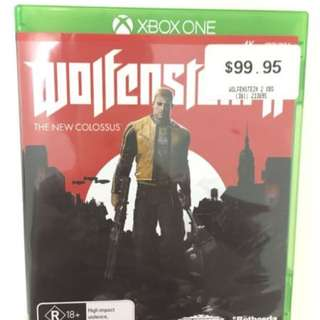 Wolfenstein II for Xbox one  game AS NEW