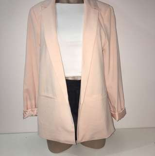Forever 21 pink long blazer size M