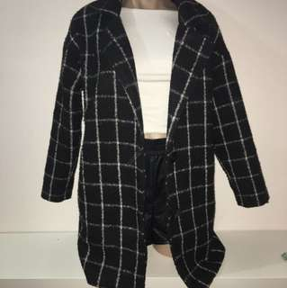 Checkered coat size 8