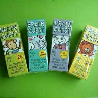 8本 Brain Quest 益智問答卡書 全新親子兒童活動學習工具 Brainquest
