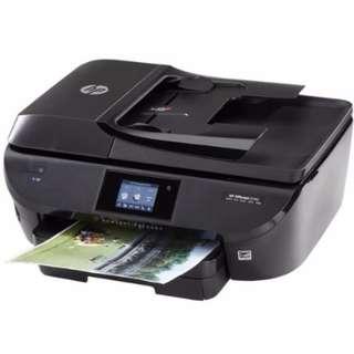 功能正常墨水用光 HP 5740 無線 雙面列印 傳真噴墨印表機 不議價 取代1050 2050 3050 4500