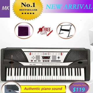MK-980 .61 Keys Black Digital Piano Personal Electronic Music Keyboard , Christmas gifts .buy 1 get 2 free gift (adjustable stand + dust cover)