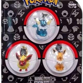 Brand New Pokemon 3 Pack Danglers Jolteon Vaporeon Flareon