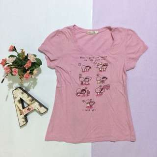 HDC Jeans & Co. Baby Pink U-Neck Shirt