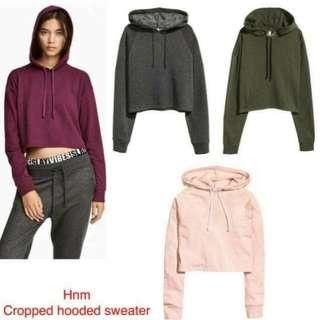 H&M DEVIDED Sweater Crop Top Hoodie