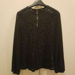 Padini Black Lace Top Size L