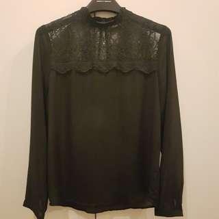 Black Lace Top Size L