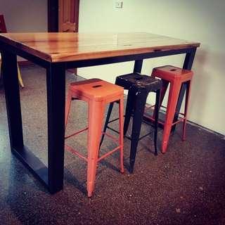 Hardwood island Bar Table