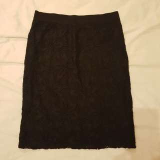 Black Lace Skirt Size L