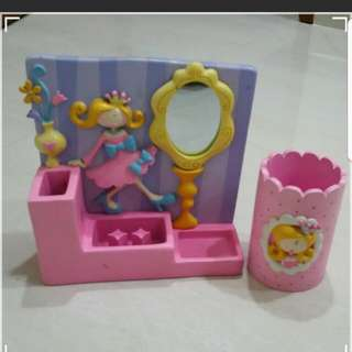 Little Princess Jewellery holder with  mirror and pen holder