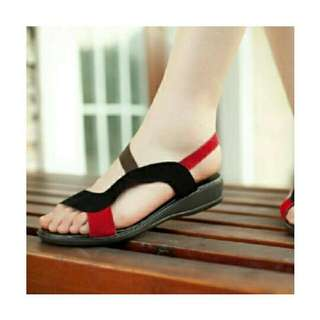 CMR294 Sandal Teplek Hitam 2 Cm
