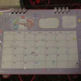 Little Twin Stars 2018 Desk Calendar