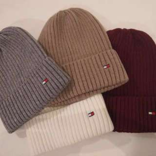 ♡peachlife.♡ 現貨款 Tommy毛帽 帽子 冬季必備 情侶款