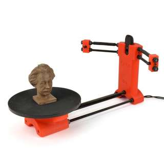 Desktop 3D Scanner with Rotating Turning Turntable Platform Base Red Laser Light Scanning 3D Technology Virtual Item Creation Reverse Engineering Lightweight Protable Hobby School Project