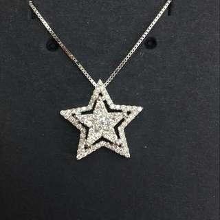 星星鑽石吊咀(包18k頸鏈)