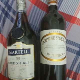 Martell cordon bleu plus red wine thn 2010