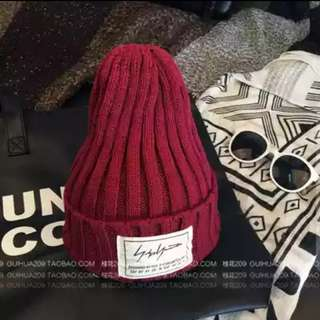#FreePostage Maroon Red Winter Knit Knitted Beanie Cap Hat